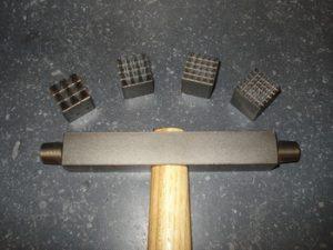 Marteau à boucharder section 20 plaquettes interchangables