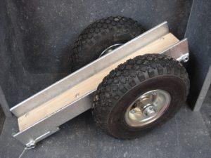 Chariot de transport à roues gonflables