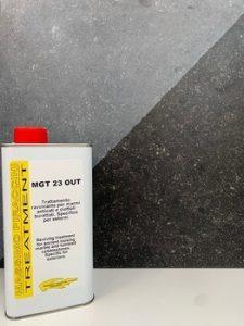 Produit MGT 23 OUT hydro-oléofuge avec renforcement de couleur extérieur