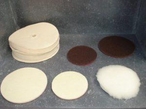 Coton et feutre à polir