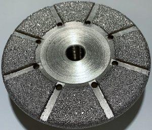 Meule diamantée goutte d'eau boisseau Ø 100 mm M14