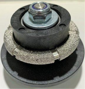 Meule diamantée type goutte d'eau à roulement