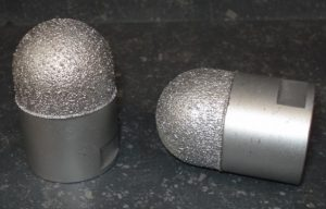 Meule poire diamantée Ø 40X60 mm M14