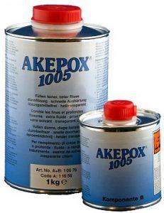 Boite de colle AKEPOX 1005 (a+b) 1.25 Kg Transparent extra-fluide